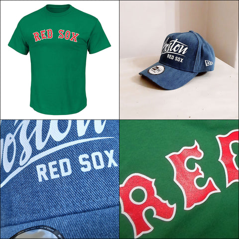 Boston Red Sox Kelly Green MLB Tee + New Era A Frame Adjustable Cap