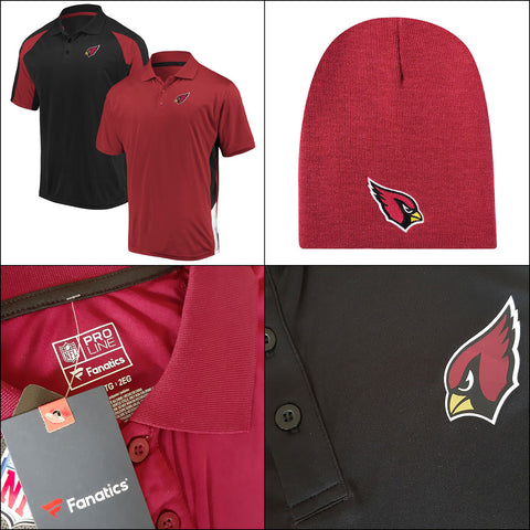 Arizona Cardinals NFL Two-Pack Home and Away Polo Set Plus Knit Hat