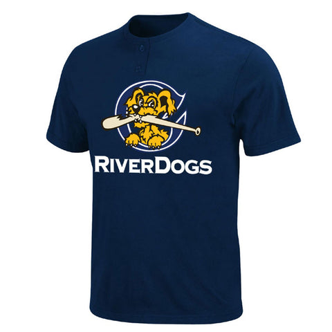 New York Yankees MLB Affiliate Charleston RiverDogs YOUTH MiLB 2 Button T shirt