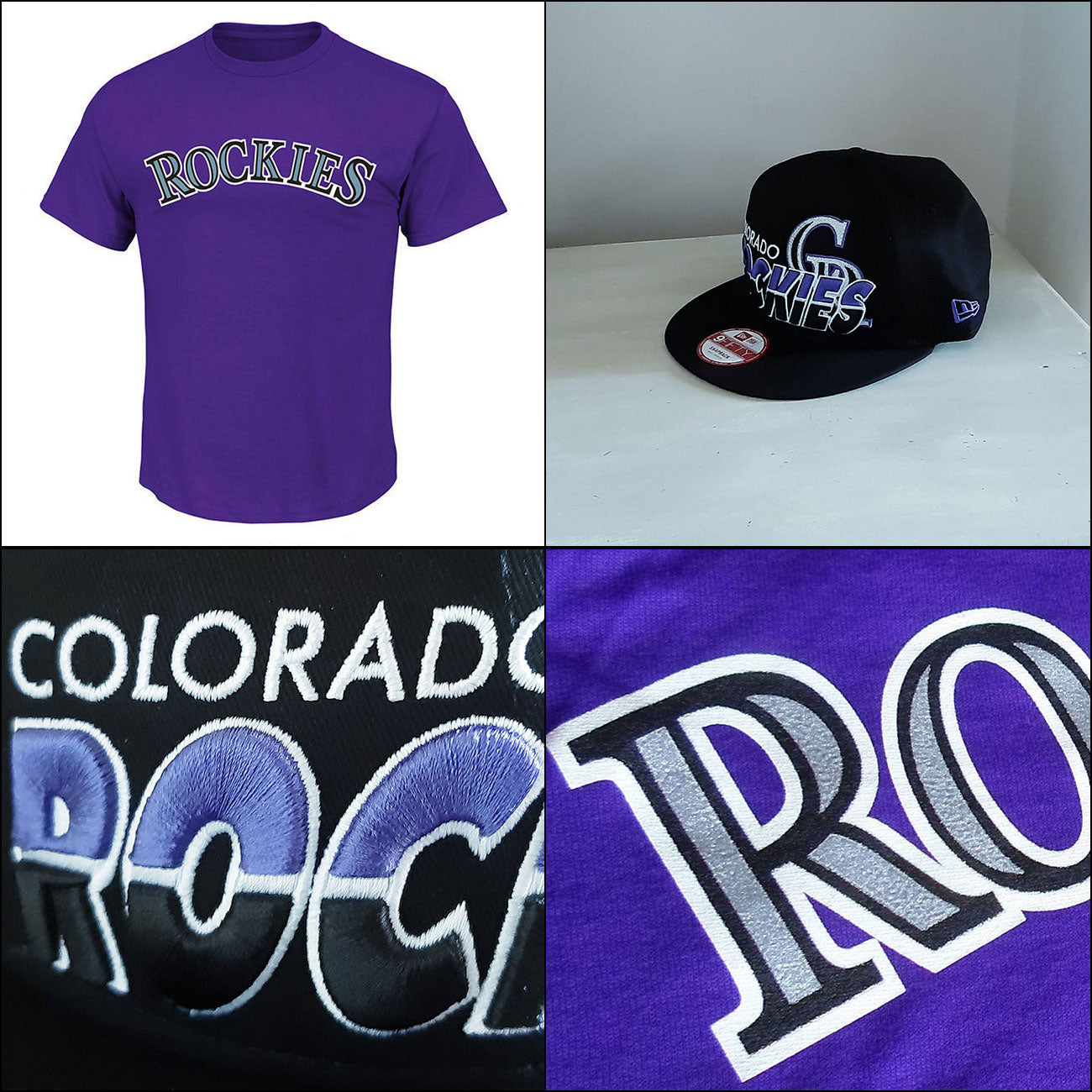Colorado Rockies T shirt PLUS New Era 9FIFTY Adjustable Cap size - small/medum