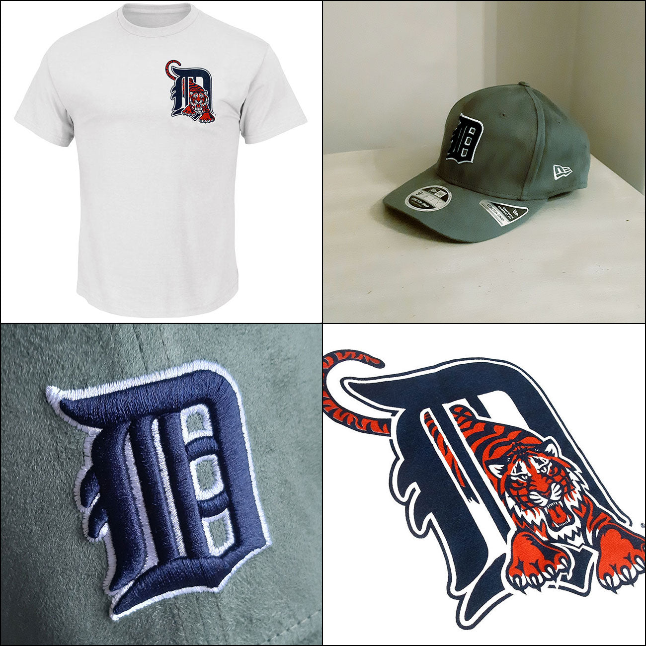 Detroit Tigers MLB Retro Logo T shirt + 9FIFTY Cooperstown Adjustable Cap
