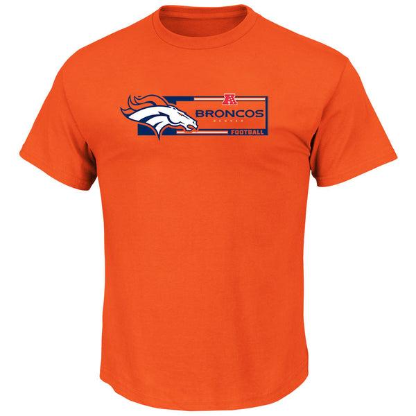 Denver Broncos Majestic Orange Critical Victory T-Shirt