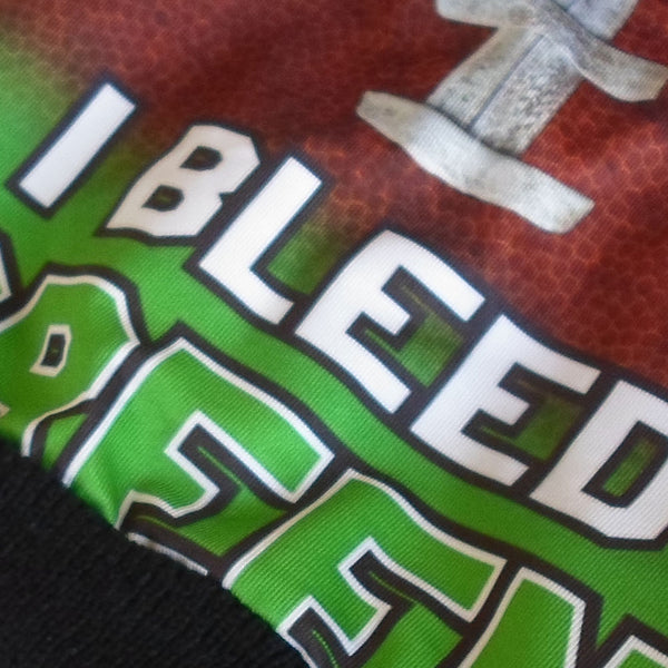 Heavyweight Lined American Football Styled Beanie - I Bleed Green