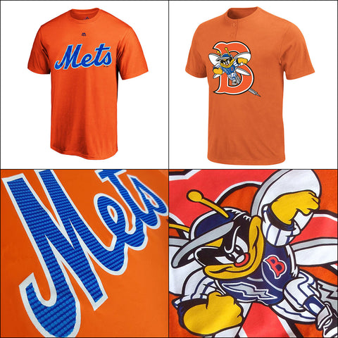 New York Mets MLB Performance PLUS Vintage Affiliate MiLB Adult T shirts
