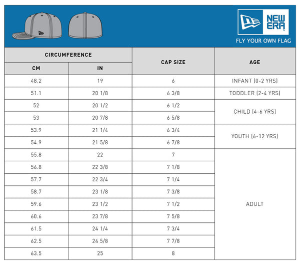 New Era Cap Sizing Guide