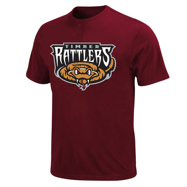 Milwaukee Brewers MLB Affiliate Wisconsin Timber Rattlers MiLB 2 Button T shirt