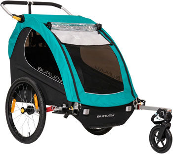 Burley Encore X Child Trailer: Turquoise