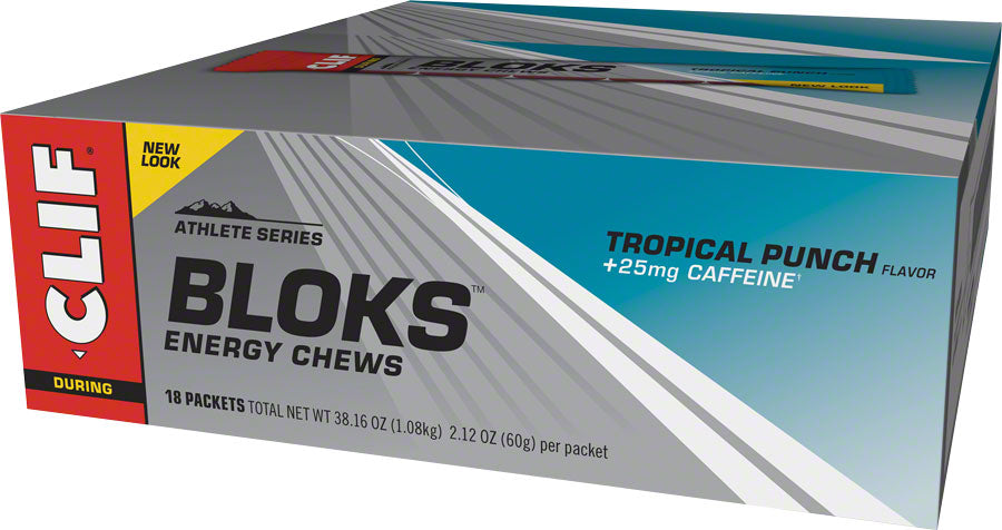 Clif Shot Bloks: Tropical Punch with 25mg Caffeine Box of 18