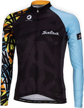 Salsa Mild Kit Jersey Black/Multi-Color, Long Sleeve-Men's