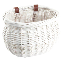 Load image into Gallery viewer, SUNLITE Willow Bushel Basket-White & Pink Color Options