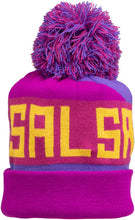Load image into Gallery viewer, Salsa Beargrease Pom Beanie (One Size)-Purple, Magenta, Yellow
