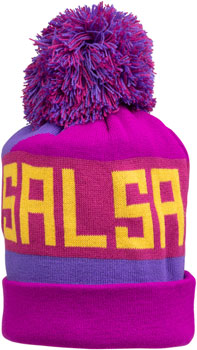 Salsa Beargrease Pom Beanie (One Size)-Purple, Magenta, Yellow