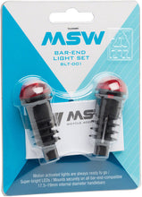 Load image into Gallery viewer, MSW Bar End Lightset with Motion Sensor: Black/Red