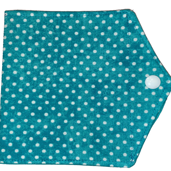 Face Mask Keeper - Blue Dots