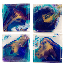 Load image into Gallery viewer, Aqua Splash Reversible Coaster Set