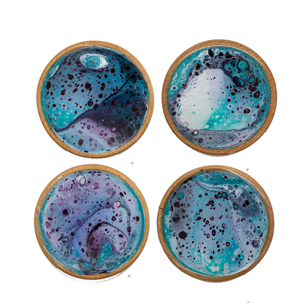 Mighty Sky Abstract Coasters - Round