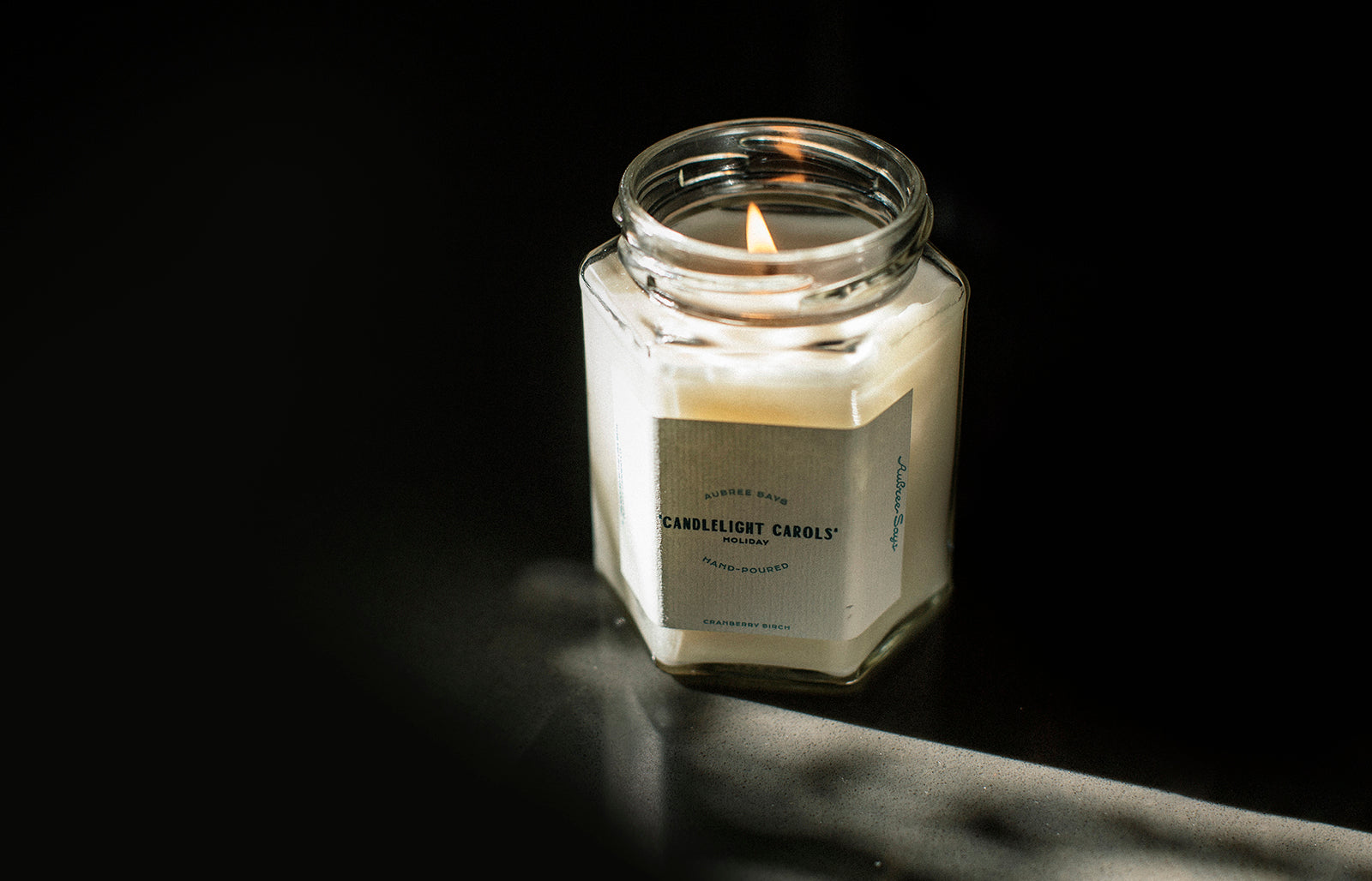 Hand poured scented candle