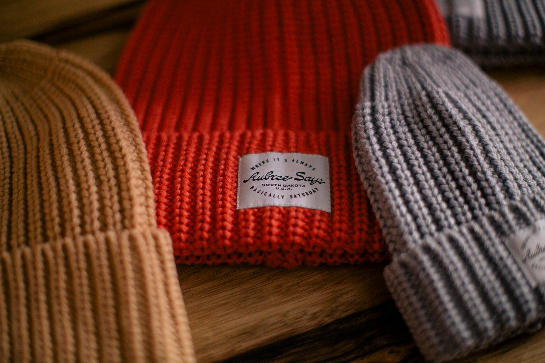 Chunky woven beanie by Aubree Says