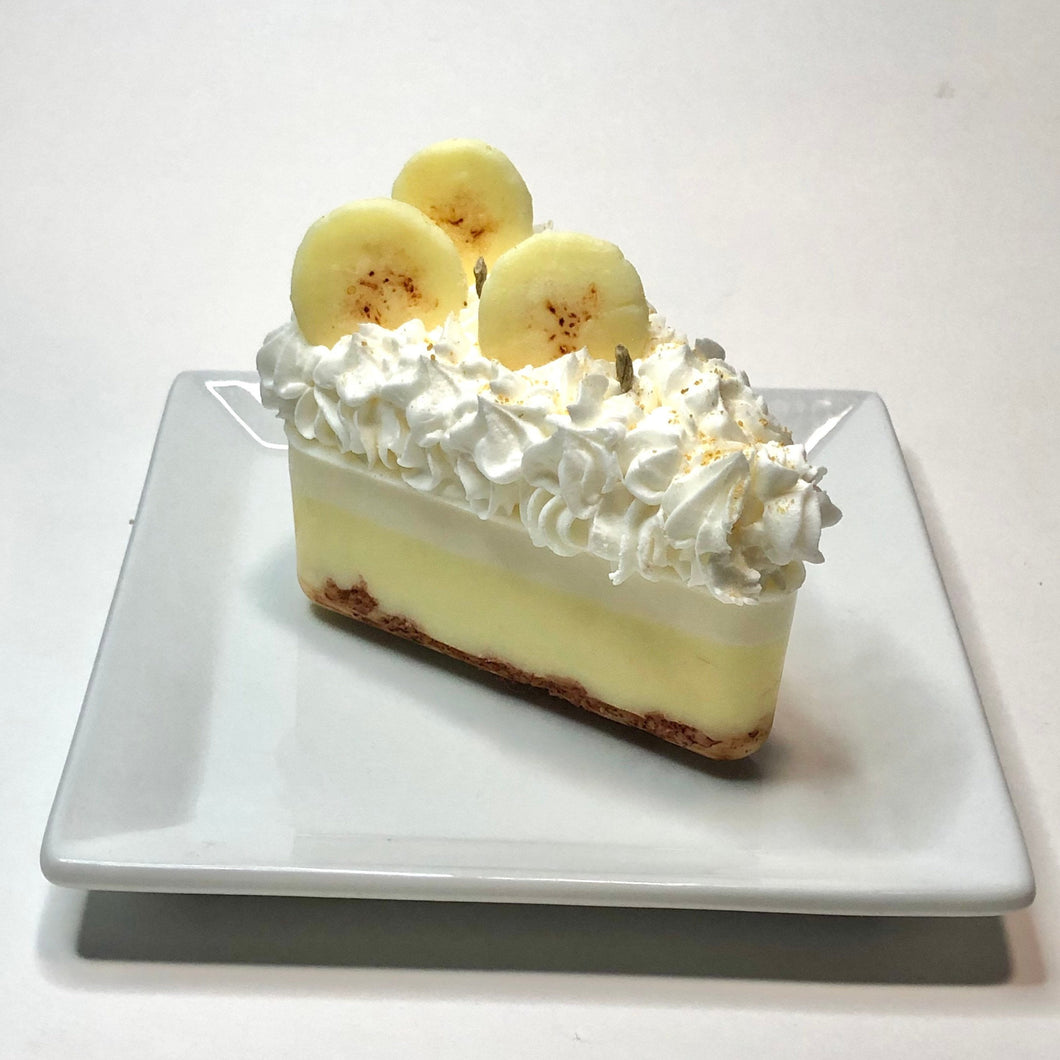 Banana Cream Pie Slice Candle Soy Wax Home Decor Candle Decorative Candle Gift