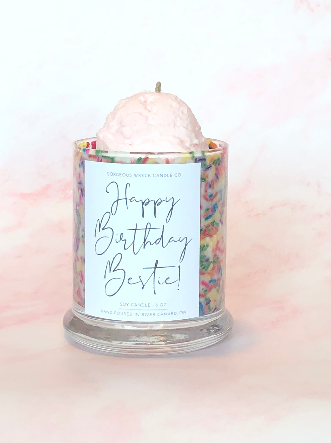 Personalized Birthday Candle 8 oz Soy Wax Home Decor Candle Decorative Candle Gift