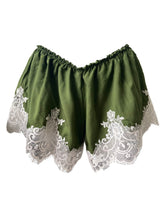 Load image into Gallery viewer, 'Zen' Bamboo Silk Shorts w Lux Lace Applique