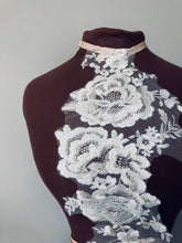 Load image into Gallery viewer, Ivory White Floral Lace Harness with Pearlescent Beading