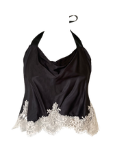 Load image into Gallery viewer, 'Zen' Bamboo Silk Drapey Cami w Lace Applique