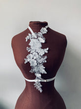 Load image into Gallery viewer, Ivory & Mallow Floral Lace Harness with Pearlescent Beading