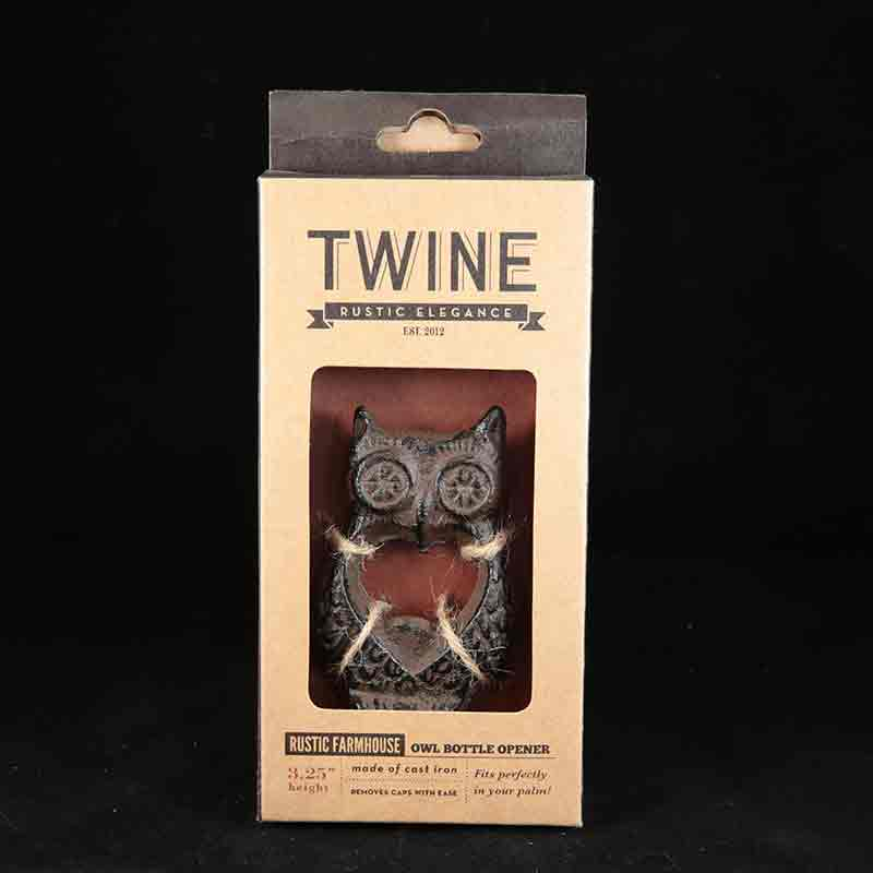 TWINE RUSTIC FARMHOUSE OWL BOTTLE OPENER