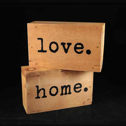 Wood sign - love