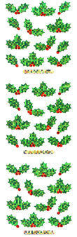 XP051 CHRISTMAS PRISM STICKERS Holly