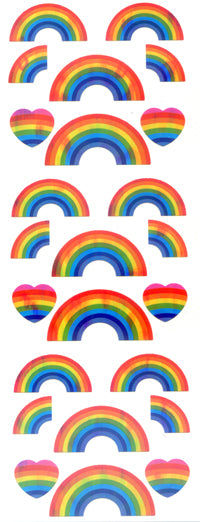 CA080 AURORA STICKERS RAINBOWS