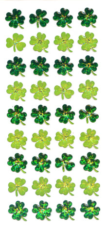 CE092 CRYSTAL STICKERS CLOVER 4