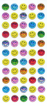CE298 CRYSTAL STICKERS SMILE FACE 10 mm MULTI-COLORED