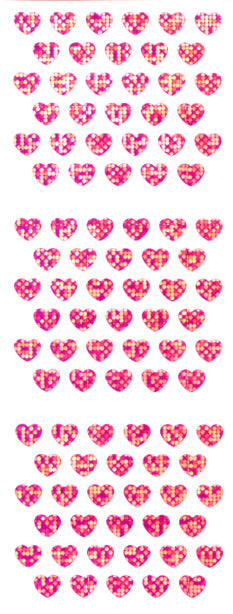 CP110 HEART STICKERS F. PINK