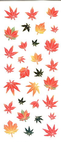 JF244 WASHI STICKERS AUTUMN LEAVES