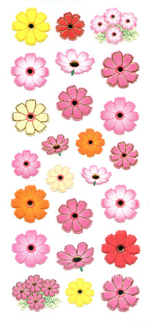 JF935 WASHI STICKERS COSMOS FLOWERS