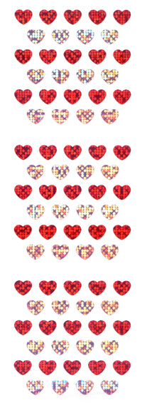 PMS122 HEART STICKERS 2 COLORS