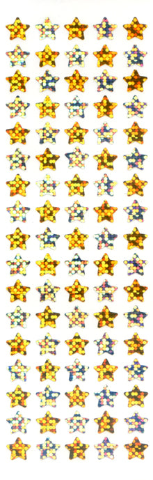 PMS511 STAR STICKERS GOLD/SILVER