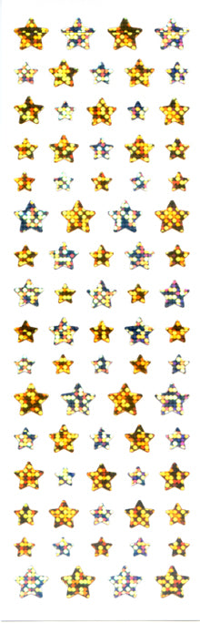 PMS711 STAR STICKERS GOLD/SILVER