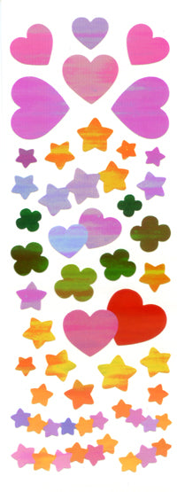 SP004  AURORA STICKERS  SUN SAM'S HEARTS,STARS, CLOVERS