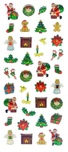 XH061 CHRISTMAS CRYSTAL STICKERS CHRISTMAS TIME