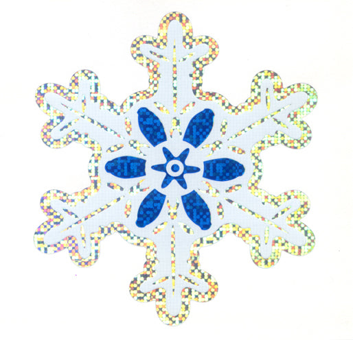XL054 CHRISTMAS LARGE STICKERS SNOWFLAKES