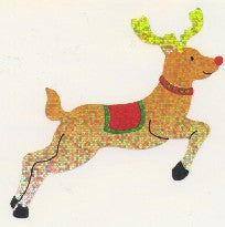 XL065 CHRISTMAS LARGE STICKERS REINDEER