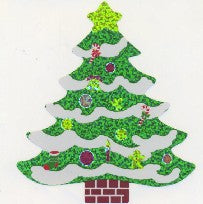 XL070 CHRISTMAS LARGE STICKERS CHRISTMAS TREE