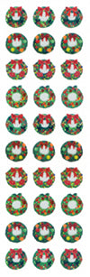 XP369 CHRISTMAS PRISM STICKERS Christmas wreath