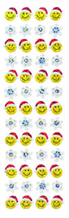 XP546 CHRISTMAS PRISM STICKERS Snowflakes & Smile face