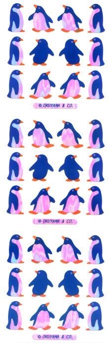 YA024 AURORA STICKERS BLUE PENGUINS