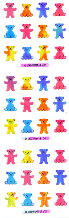 YA028 AURORA STICKERS BEARS 3 COLORS