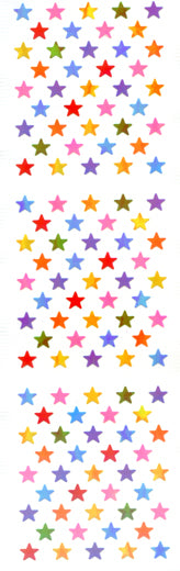 YA115 AURORA STAR STICKERS MULTI-COLOORED SMALL STARS